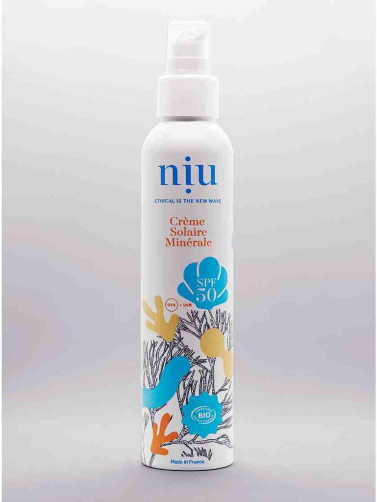 crème solaire minérale Niu